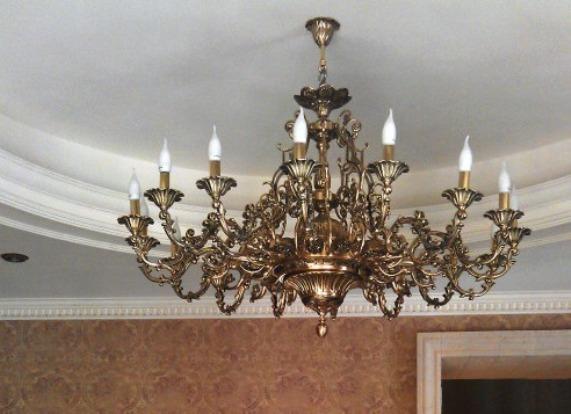 Чистка люстр, ламп и бронзовых предметов Полезные советы