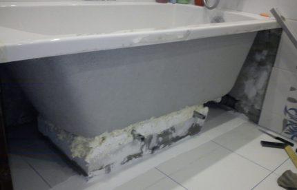 Установка акриловой ванны своими руками Ремонт в доме